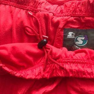 STARTER Pants - Starter Red Nylon Athletic Pants XXL